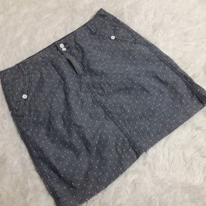 Tommy Hilfiger Chambray Polka Dot skirt SZ 8